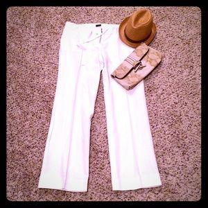 J. Crew White linen blend pants size 8 EUC